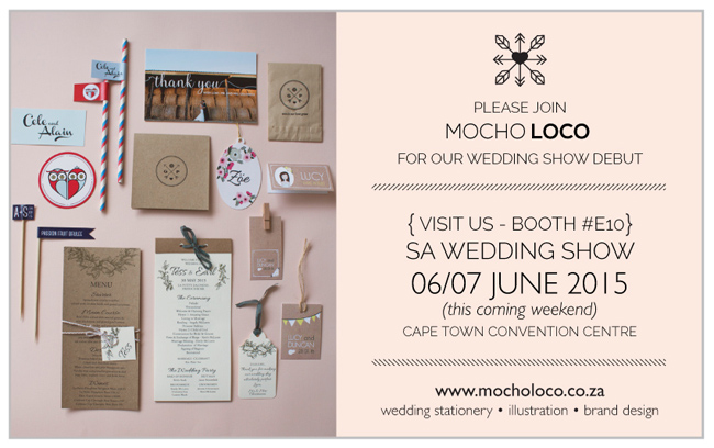 Wedding invitations graphic design branding part 10 we will have a little booth e10 displaying some of our favourite wedding stationery designs this coming weekend at the south africa wedding show stopboris Choice Image